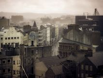 Rooftops, Belfast UK royalty free stock photography