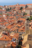 Rooftops and bell tower. Dubrovnik. Croatia Stock Images