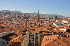 Rooftops of Bilbao city, Spain Stock Photography