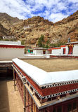 Rooftops of a Buddhist Monastery. Thiksay Buddist Monastery near Leh, Kashmir, India Stock Image