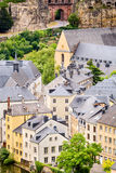 Rooftops and Buildings of Luxembourg Royalty Free Stock Photos
