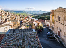 Rooftops of Cammarata, Sicily, Italy Royalty Free Stock Photography