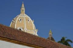 Rooftops of Cartagena de Indias in Colombia Stock Photos