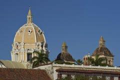 Rooftops of Cartagena de Indias in Colombia Stock Images