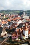 Rooftops of Cesky Krumlov Royalty Free Stock Images