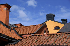 Rooftops with chimneys Stock Image