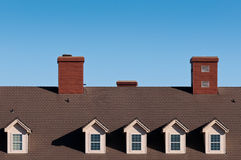 Rooftops and Chimneys Royalty Free Stock Image