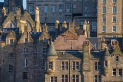 Rooftops of Edinburgh Old Town. Rooftops with chimneys and gables of Edinburgh Old Town Stock Image