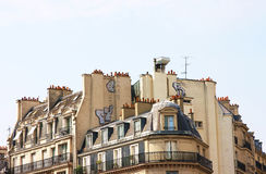 The rooftops and chimneys of Paris Royalty Free Stock Photos