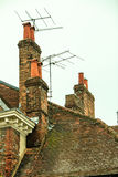 Rooftops and chimneys Royalty Free Stock Photos