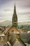 Rooftops and Church in Inverness Royalty Free Stock Photography
