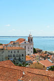 Rooftops and church of Santo Estevao, Lisbon (Portugal) Royalty Free Stock Image