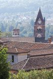Rooftops and church steeple, Avigliana Stock Photography