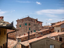 Rooftops in Citta della Pieve in Umbria Stock Photography