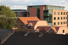 The rooftops of the city of York, England Royalty Free Stock Photo