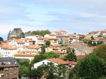 Rooftops in Comillas Royalty Free Stock Images