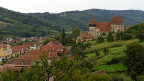 Rooftops of Copsa Mare, Transylvania, Romania Royalty Free Stock Images