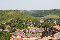Rooftops of Cordes-sur-Ciel Royalty Free Stock Photos