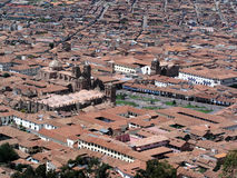 Rooftops of Cusco. Panorama with rooftops of Cusco, Peru Stock Image