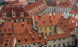 Rooftops in downtown Prague Stock Image