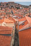 Rooftops of Dubrovnik Old Town stock images