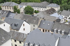 Rooftops in Esch sur Sûre Royalty Free Stock Images