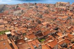 rooftops estonia gammal tallinn townsikt dubrovnik croatia Royaltyfria Bilder