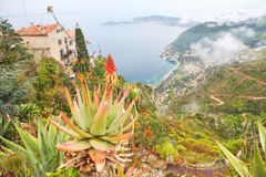Rooftops of Eze village Royalty Free Stock Photography