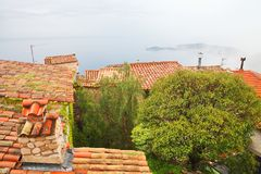 Rooftops of Eze village Royalty Free Stock Image