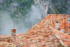 Rooftops of Eze village Stock Photos