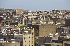 Rooftops of Fez medina Royalty Free Stock Photography