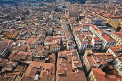 Rooftops of Florence. The carpet of roofs from the top of Florence Cathedral stock photos