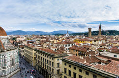 Rooftops of florence. A view from the Giotto bell tower in florence Stock Photo