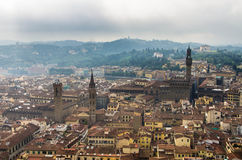 Rooftops of florence 2. A view from the Giotto bell tower in florence Stock Images