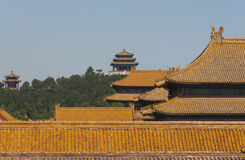 Rooftops of the Forbidden City, Beijing Royalty Free Stock Image