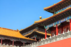 Rooftops of the forbidden city in Beijing Royalty Free Stock Photos