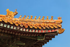 Rooftops of the forbidden city in Beijing Royalty Free Stock Photo