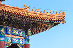 Rooftops of the forbidden city in Beijing Royalty Free Stock Image