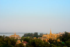 Rooftops of the Grand Palace, Phnom Penh, Cambodia. This image shows the Rooftops of the Grand Palace, Phnom Penh, Cambodia Stock Photo