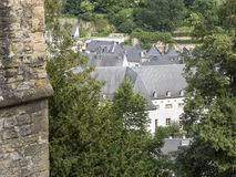 Rooftops of Grund Luxembourg Stock Images