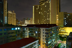 Rooftops of Guangzhou at night Royalty Free Stock Photos