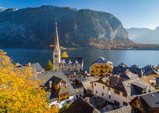 Rooftops in Hallstatt during the Autumn Royalty Free Stock Photos