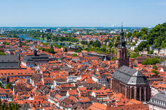 Rooftops of Heidelberg old town, Baden-Wurttemberg, Germany Royalty Free Stock Photography