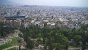 Athens, Greece. Rooftops and houses in Athens, Greece stock video footage
