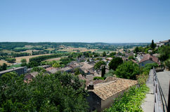 The rooftops of houses in Lauzerte. The village of Lauzerte in France Stock Image