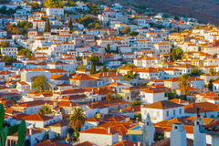 Rooftops at Hydra island Royalty Free Stock Photo