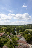 Rooftops of idyllic village, Bourdeilles, Dordogne, France Royalty Free Stock Photography
