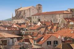 Rooftops. Jesuit Church of St. Ignatius. Dubrovnik. Croatia Stock Photography