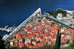 Rooftops of Kotor historical town Royalty Free Stock Photos