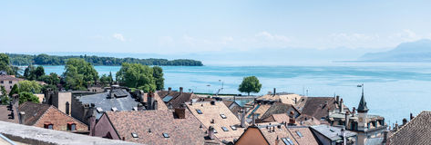 Rooftops by Lake Geneva. Stock Images